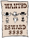 Wanted poster. Vector art of a wanted poster wild west style Stock Photo