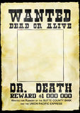 Wanted poster. Western poster wanted dead or alive on old paper Royalty Free Stock Photo