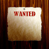 Wanted Poster Stock Image
