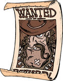 Wanted Poster. Old western wanted poster of criminal vector illustration