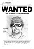 Wanted Poster. A Wanted poster with a police sketch. Town name, the man in the drawing, and all other information is made up Royalty Free Stock Photos