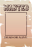 A wanted poster. A blank wanted poster Royalty Free Stock Photography