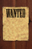 Wanted Poster. Old western style wanted poster nailed to a plank fence with blank space for copy Royalty Free Stock Image