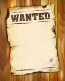 Wanted poster empty 2 Stock Photo