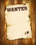 Wanted poster empty Stock Images