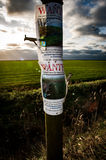 Wanted poster in fenland royalty free stock image