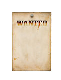 Wanted poster isolated. On white royalty free stock image