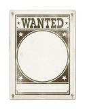 Wanted poster isolated on white. Background Royalty Free Stock Photos