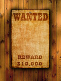 Wanted poster on old paper Royalty Free Stock Images