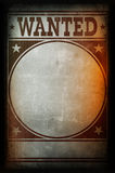Wanted poster printed on a grunge wall. Background texture Royalty Free Stock Photography