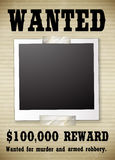 A wanted poster Stock Image