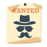 Wanted poster vector icon. Stock Images
