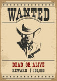 Wanted poster.Vector western illustration Stock Images