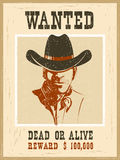 Wanted poster.Western vintage paper Royalty Free Stock Image
