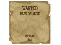 Wanted poster wild west Royalty Free Stock Photography