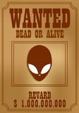 Wanted poster in wild West style Stock Image