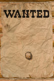 Wanted Poster With A Hole Royalty Free Stock Image