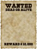 Wanted Poster (with Clipping Path) Royalty Free Stock Image