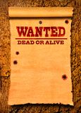 Wanted western poster royalty free stock photography