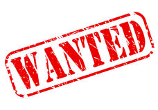 Wanted red stamp text Stock Image