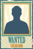 Wanted Retro Poster Stock Photography