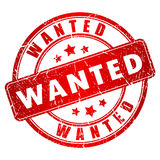 Wanted rubber stamp Royalty Free Stock Photos