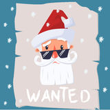 Wanted santa claus royalty free stock photography