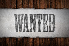 Wanted sign Stock Photo