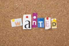 Wanted Sign Royalty Free Stock Images