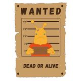 Wanted,snails,poster,,speed snails, dead or alive vector illustration