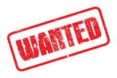 Wanted stamp Stock Image