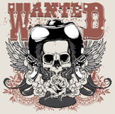 Wanted. T-shirt design illustration vector format available Royalty Free Stock Photo