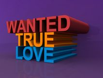 Wanted true love Royalty Free Stock Photos