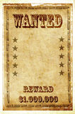 Wanted vintage poster. Wanted vintage style poster background royalty free stock photography