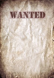 Wanted vintage poster, dead or alive Stock Photos