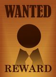 Wanted vintage poster illustration Royalty Free Stock Image