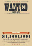 Wanted Vintage Poster Royalty Free Stock Photos
