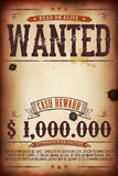 Wanted Vintage Western Poster Stock Photography