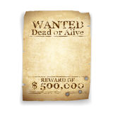 Wanted Western Poster. In vector Royalty Free Stock Photo