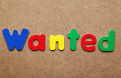 Wanted word Royalty Free Stock Image
