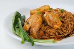 Wanton noodle, dried wanton noodle Stock Photo