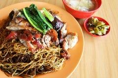 Wanton noodles dish Royalty Free Stock Photos