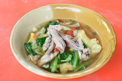 Wanton soup Stock Photo
