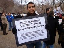 Wants Mubarak to Leave Egypt Stock Photos