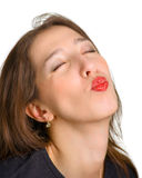 Wants to be kissed Royalty Free Stock Images