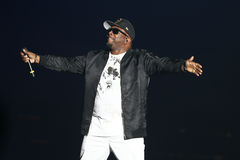 Wanya Morris. NEW YORK-JUL 7: Wanya Morris of Boyz II Men performs during The Total Package Tour at NYCB Live at the Nassau Veterans Memorial Coliseum on July 7 Royalty Free Stock Photo