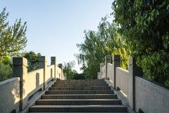 Wanyue bridge and green trees Royalty Free Stock Image
