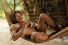 Waorani Indigenous Life Style Royalty Free Stock Photos