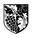 Wapen met wijnstok Royalty-vrije Stock Afbeeldingen