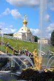 Wapenkundige huisvesting van Groot Paleis in Peterhof Stock Afbeeldingen